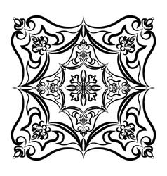 Ornament hand drawn card mandala Geometric circle vector image