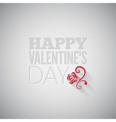 valentines day flower on gray design background vector image vector image