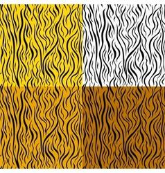 wild animal skin seamless pattern set vector image vector image