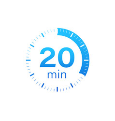 20 minutes stopwatch icon stopwatch vector