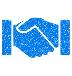 Acquisition Handshake Grainy Texture Icon vector