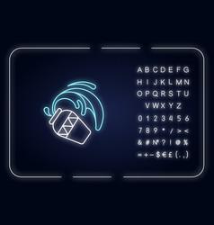 Aquarius zodiac sign neon light icon vector