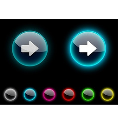 Arrow button vector image