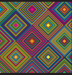 aztec themed diamond colourful pattern design vector image
