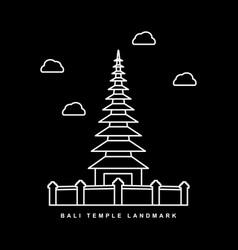 Bali city landmark heritage temple building vector