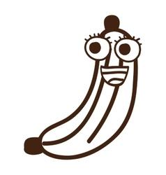 banana fruit character cute icon vector image