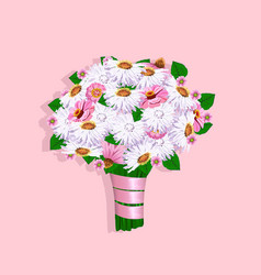 beautiful wedding bouquet vector image