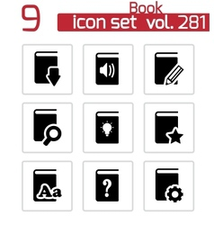 black books icons set vector image