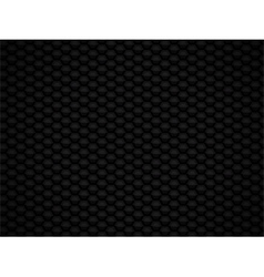 Black glossy 3d honeycomb background vector
