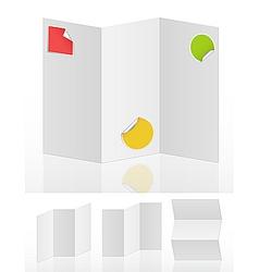 blank menus vector image