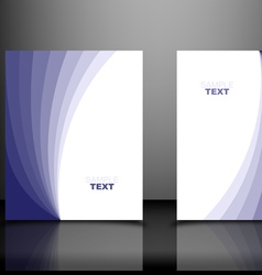 Blue Business Templates vector image