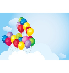 bright colorful balloons vector image