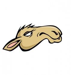 camel head vector image