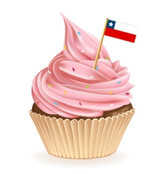 Chilean Cupcake vector image