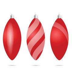 Chrismas ball red set vector