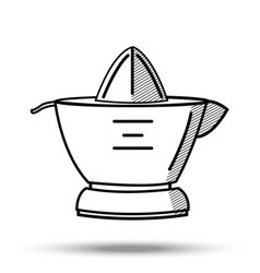 Citrus juicer in line art style on vector