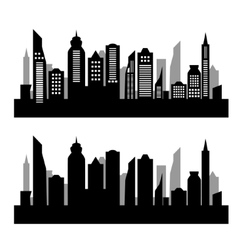 City silhouette on white background vector image