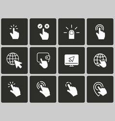 click icons vector image
