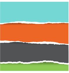 colorful torn paper big set vector image