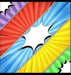 comic book diagonal banners vector image