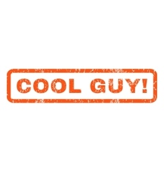 Cool guy rubber stamp vector