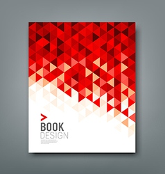 Cover report red triangle geometric pattern vector image