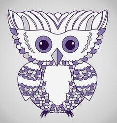 Cute Purple Abstract Owl vector