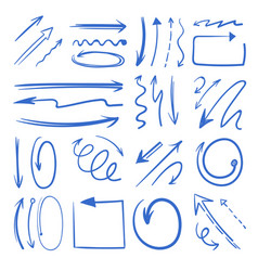 different doodle arrows set pictures vector image