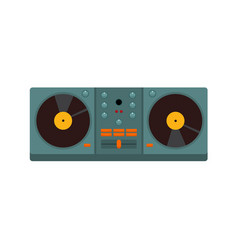 Double turntable disc jockey graphic vector