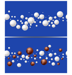 drops of milk and chocolate on blue background vector image