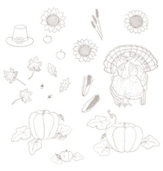 elements of Thanksgiving vector image
