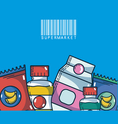 food and drinks super market products vector image