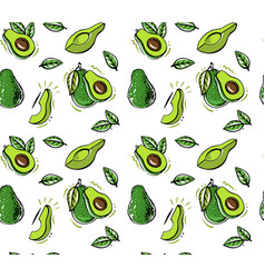 Fresh avocado seamless pattern texture vector