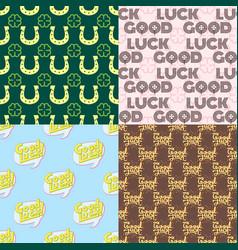 good luck seamless pattern farewell vector image