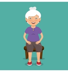 grandmother with sport clothes vector image