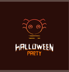 halloween party design with dark brown background vector image