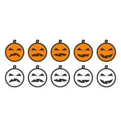 Halloween Pumpkin Emoji icons vector image