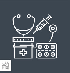 health care related thin line icon vector image