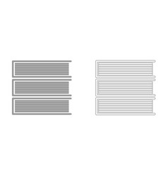 horizontal stack of books it is icon vector image
