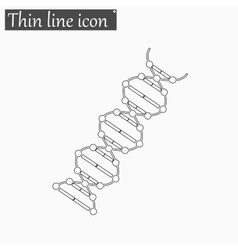 image DNA Drawing icon Style thin line vector image