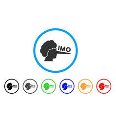 imo lier icon vector image