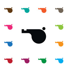 Isolated whistle icon blower element can vector