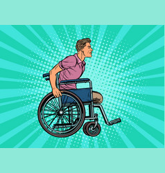 Legless man disabled veteran in a wheelchair vector