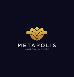 Luxury flower logo design inspiration vector