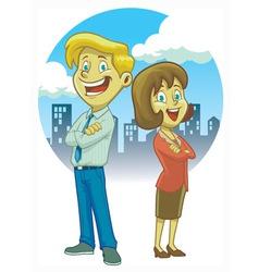 Man and women crossing hand vector