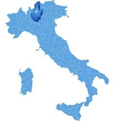 Map of Italy Brescia vector image