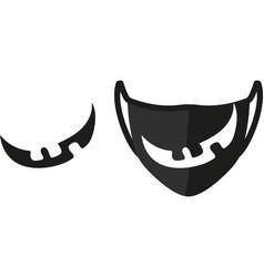 mask smile print vector image