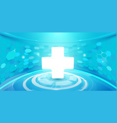 Medical cross and technology digital background vector