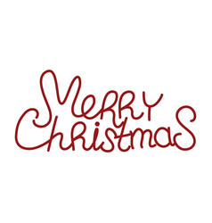 merry christmas red text vector image