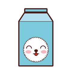 milk box kawaii character vector image
